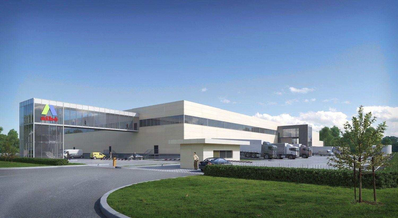 U� 9 mln. Eur bus statomas prekybos tinklo �Aib� logistikos centras