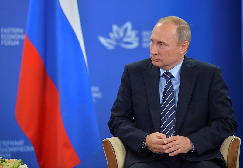 """Rusijos prezidentas Vladimiras Putinas. Aleksejaus Družinino (""""Reuters""""/""""Scanpix"""") nuotr."""