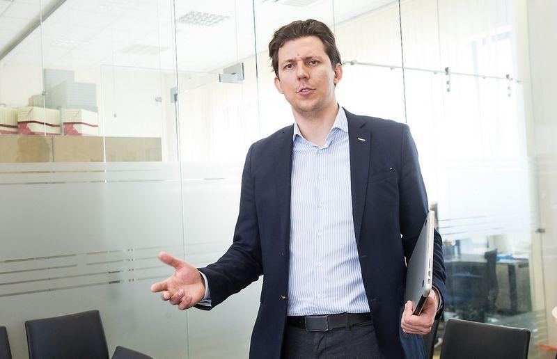 """Viktoras Daukšas, AB """"BnP Finance"""" direktorius. Juditos Grigelytės (VŽ) nuotr."""