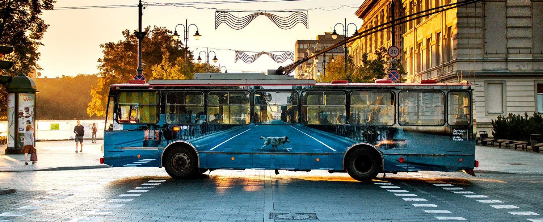 � Vilniaus gatves i�va�iavo i�nykstantis troleibusas