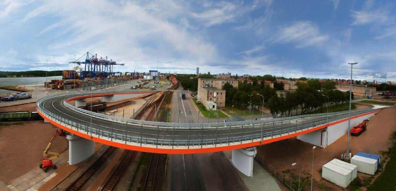 Klaipėdoje baigta statyti 4,1 mln. Eur vertės estakada