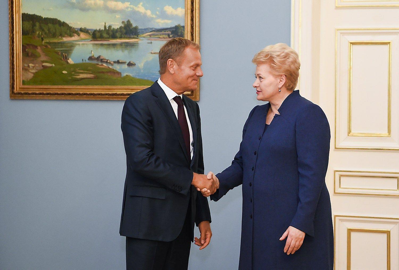 """Grybauskaitė su Tusku kalbėjo apie ES ateitį po """"Brexit"""""""