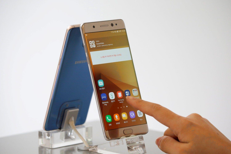 """""""Samsung"""" akcijas nuskandino """"Galaxy Note 7"""""""