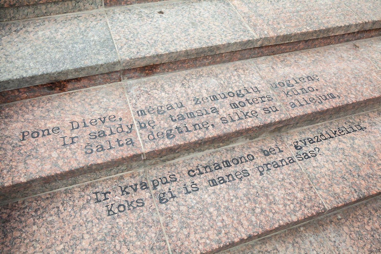 Vilniuje atidengti Czeslawo Miloszo laiptai