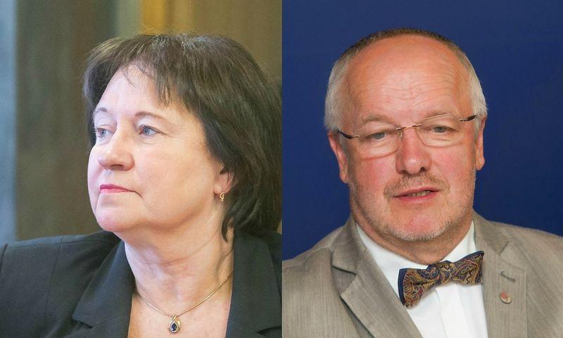 Virginija Baltraitienė, žemės ūkio ministrė, ir Juozas Olekas, krašto apsaugos ministras. VŽ montažas ir nuotr.