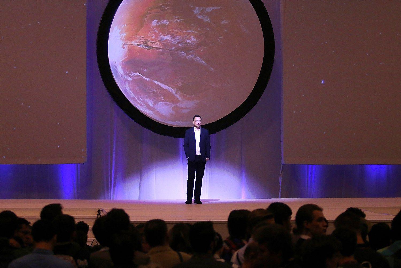 �moni� kelion� � Mars� pagal Elon� Musk�