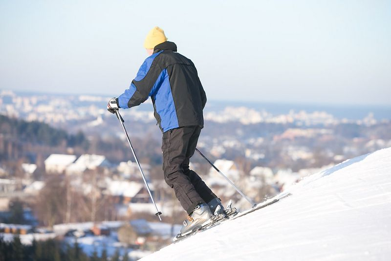 Liepkalnio žiemos slidinėjimo trasa Vilniuje Juditos Grigelytės (VŽ) nuotr.