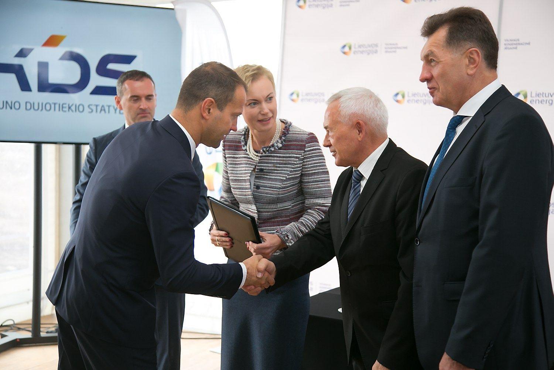 Oficialiai prad�tos Vilniaus kogeneracin�s j�gain�s statybos