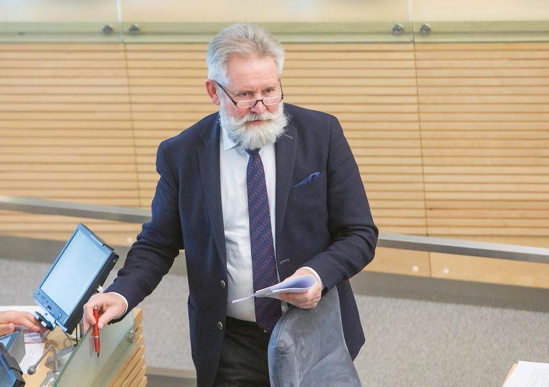 Juditos Grigelytės (VŽ) nuotr. Algirdas Sysas, Seimo narys, socialdemokratų partijos rinkimų štabo vadovas