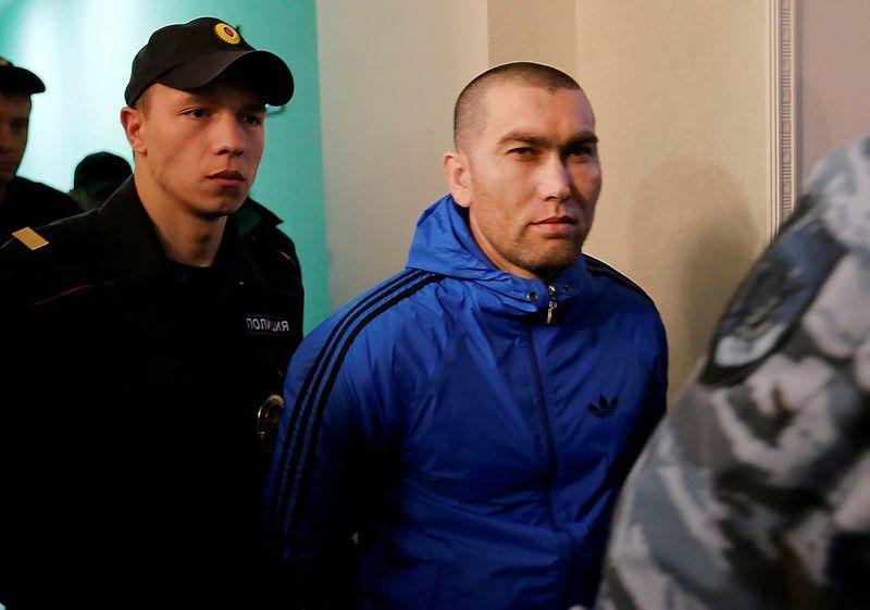 """Anzoras Gubaševas, vienas iš įtariamųjų Boriso Nemcovo nužudymu. Maksimo Zmejevo (""""Reuters""""/""""Scanpix"""") nuotr."""
