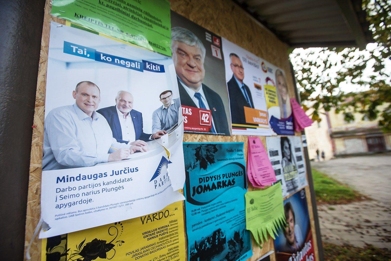 L��os, skirtos politinei reklamai: rinkim� i� sostin�s nematyti