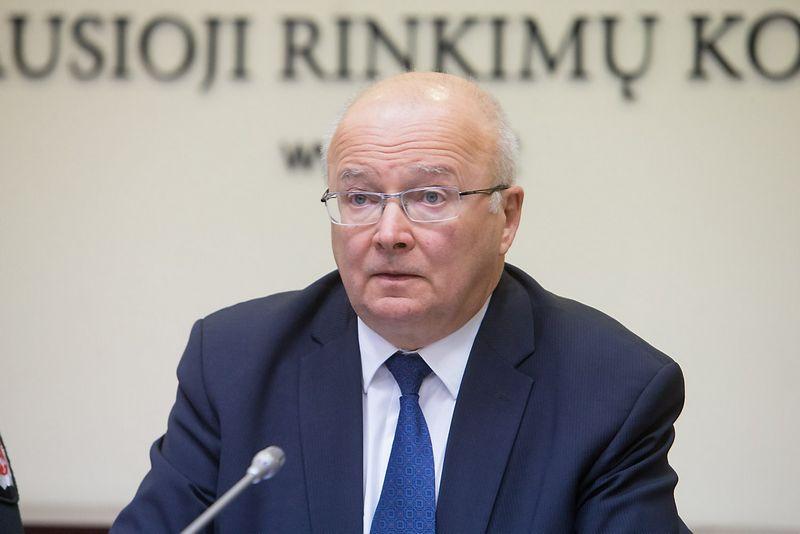 Zenonas Vaigauskas, Vyriausiosios rinkimų komisijos (VRK) pirmininkas. Juditos Grigelytės (VŽ) nuotr.