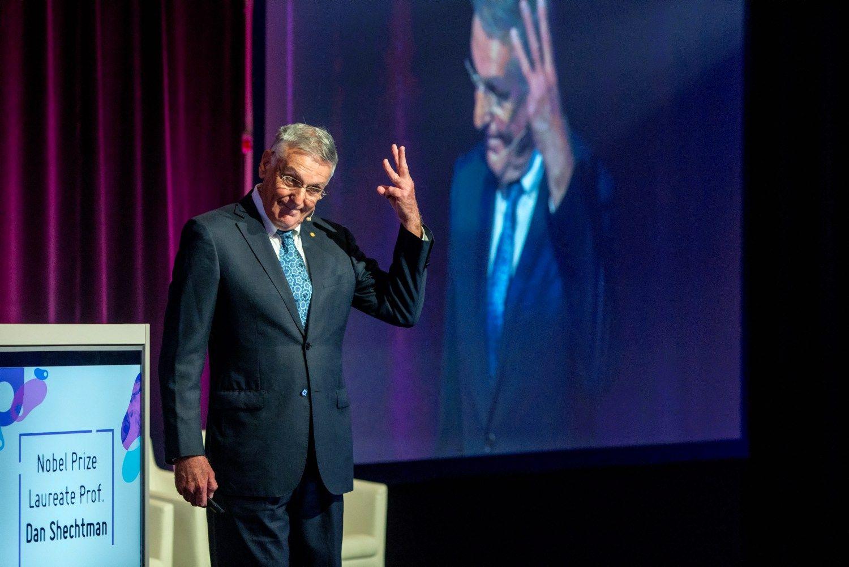Danas Shechtmanas, 2011 m. Nobelio chemijos premijos laureatas, buvo vienas Izraelio startuolių kultūros kūrėjų. Vladimiro Ivanovo (VŽ) nuotr.