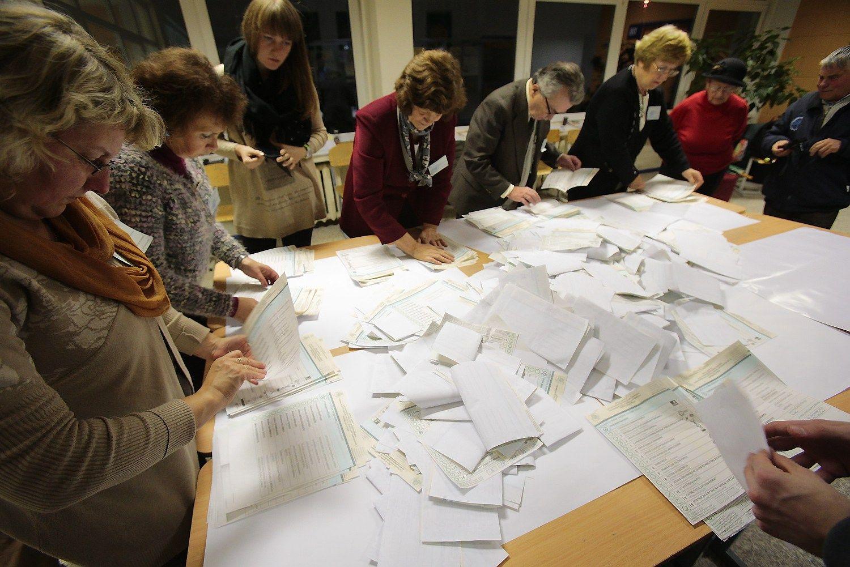 Balsai perskai�iuoti, bet Seimo rinkim� rezultatai nepasikeit�