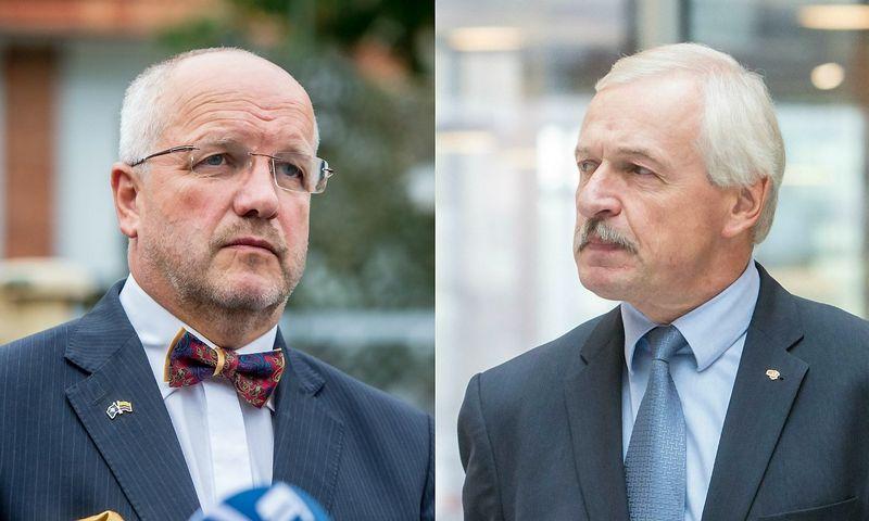 Juozas Olekas (kairėje) ir Evaldas Gustas. Juditos Grigelytės (VŽ) nuotr.