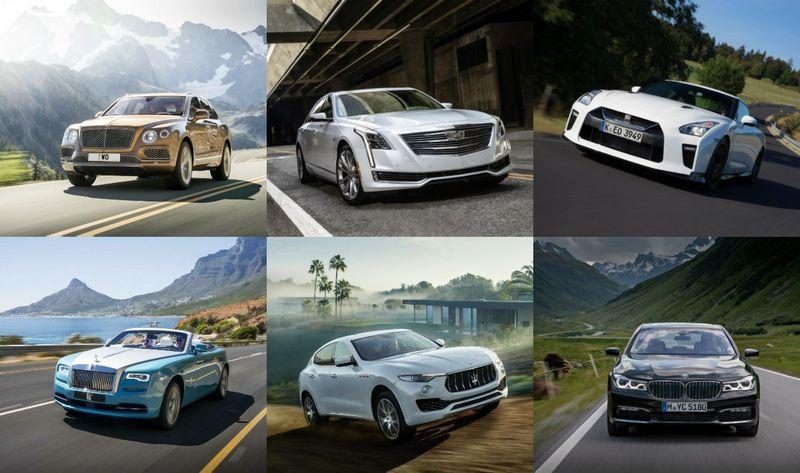 Dalis konkurse dalyvaujančių automobilių. VŽ koliažas