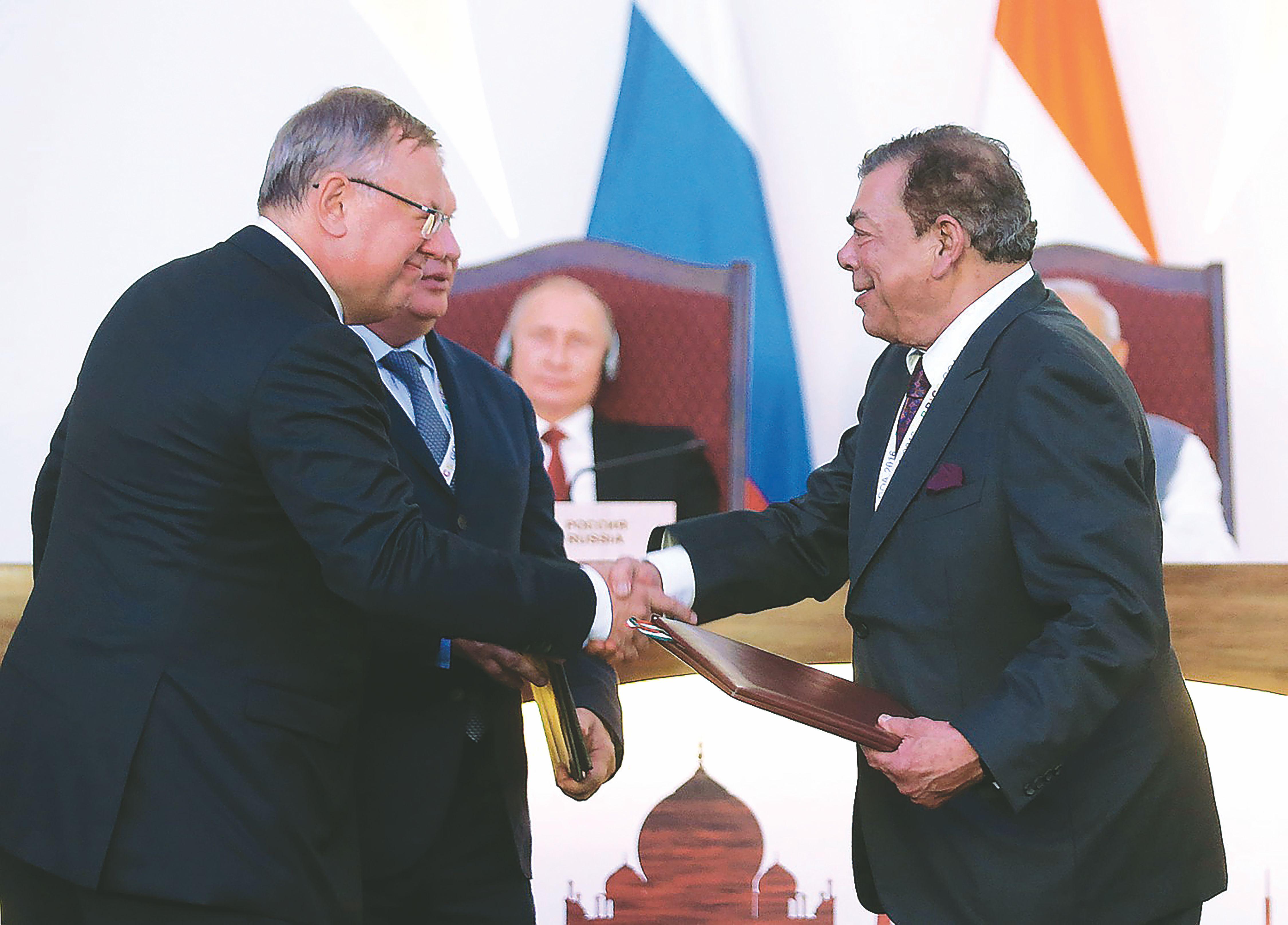 """Rosneft"" mina kelią Indijoje"