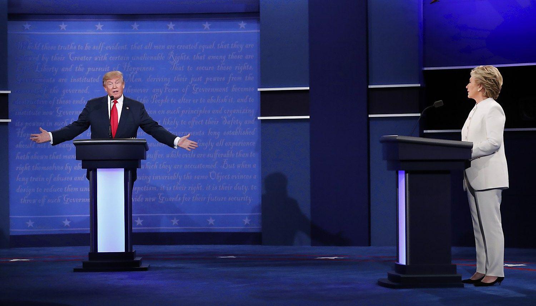 Paskutiniai JAV rinkim� debatai: nuo Putino marionet�s iki rezultat� nepripa�inimo
