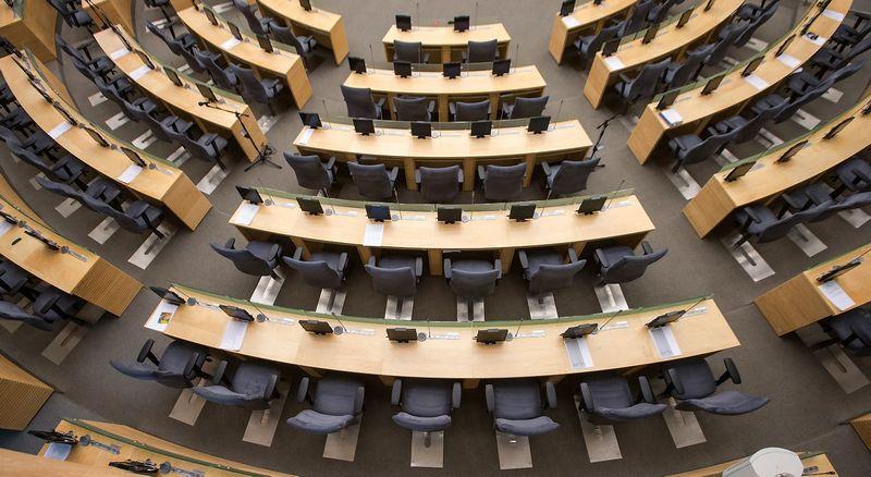 Lietuvos Respublikos Seimo rūmų posėdžių salė. Juditos Grigelytės (VŽ) nuotr.