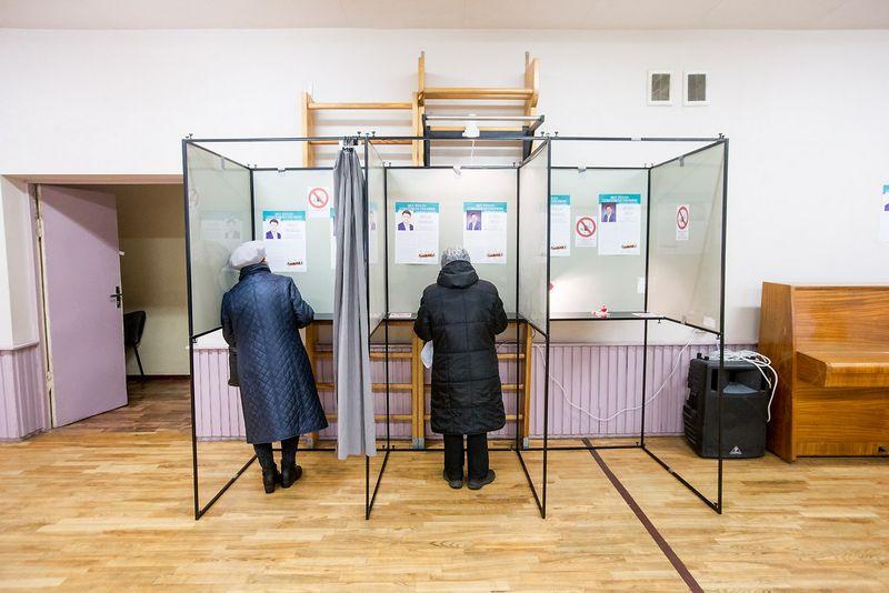 Vyksta balsavimas antrajame Seimo rinkimų ture. Juditos Grigelytės (VŽ) nuotr.