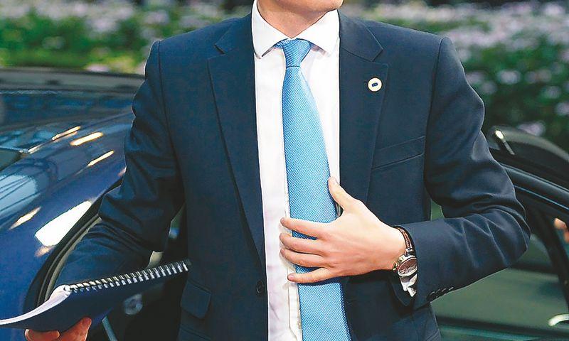 "Taavi Roivo, Estijos premjero, rūpestis – lėtas ūkio augimas. LaurentO Dubrule (""Reuters"" / ""scanpix"") nuotr."