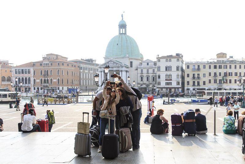 Turistai Venecijoje Vladimiro Ivanovo (VŽ) nuotr.