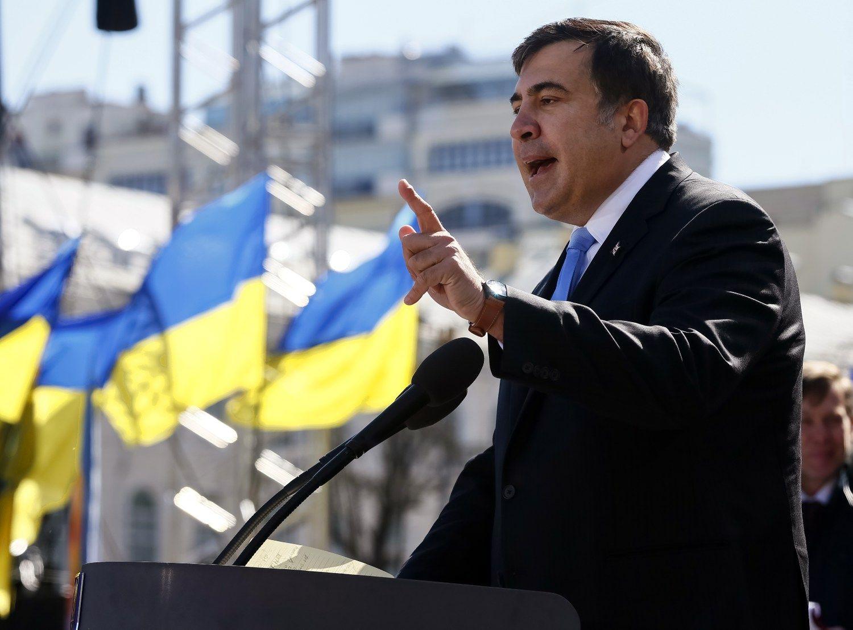 Saakašvilis pasitraukė iš Odesos gubernatoriaus pareigų