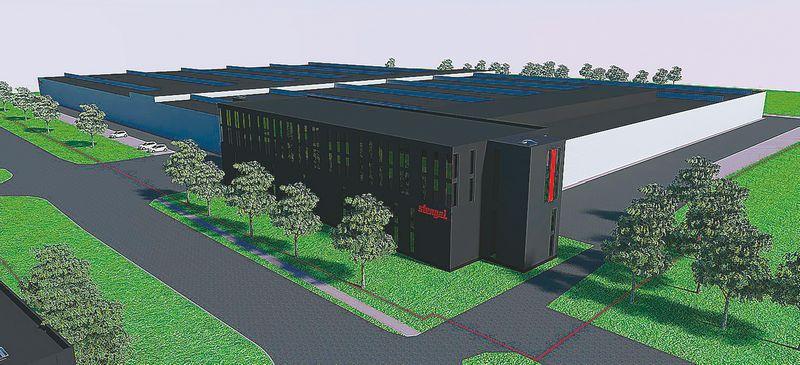 Naujos gamyklos vizualizacija.