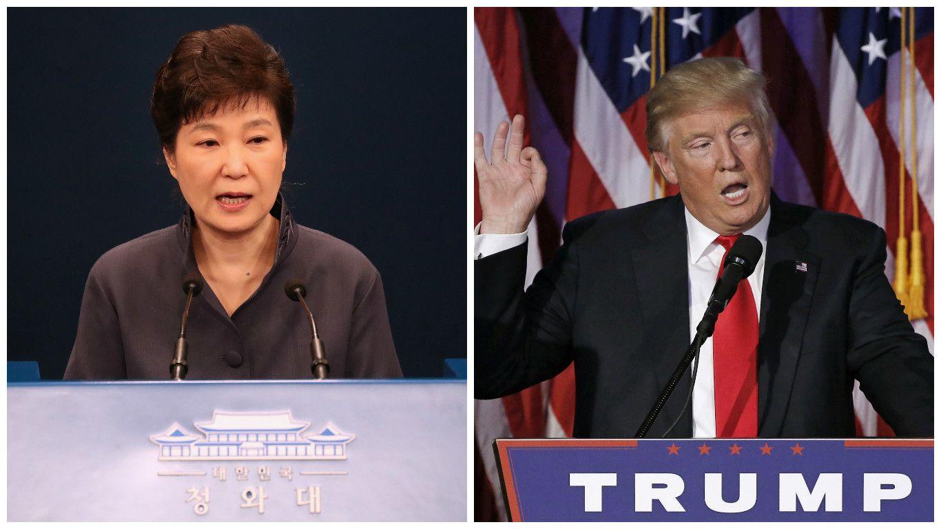 Trumpas jau atsisakorinkiminių ketinimų: įsipareigojimų Pietų Korėjai neatšauks