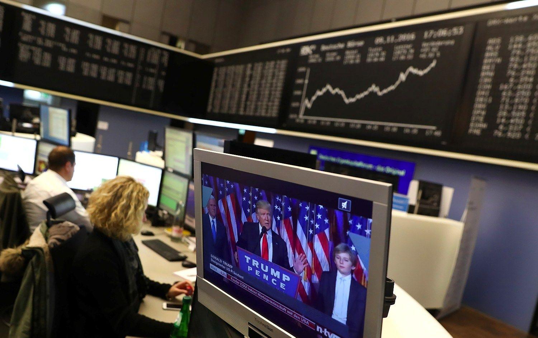 Investuotojai nusprendė, kad Trumpas vis dėlto gerai: JAV akcijos pakilo