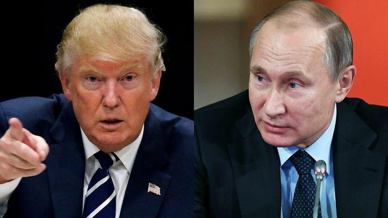 """Iš kairės: Donaldas Trumpas, išrinktasis JAV prezidentas, Vladimiras Putinas, Rusijos vadovas. VŽ montažas, """"Reuters"""" / """"Scanpix"""" nuotr."""