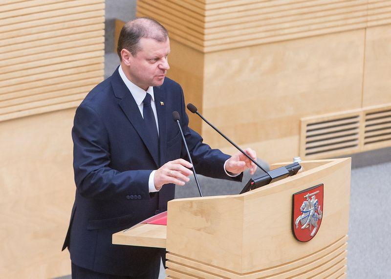 Seime bus balsuojama, ar Saulius Skvernelis taps naujuoju Lietuvos ministru pirmininku. Juditos Grigelytės (VŽ) nuotr.
