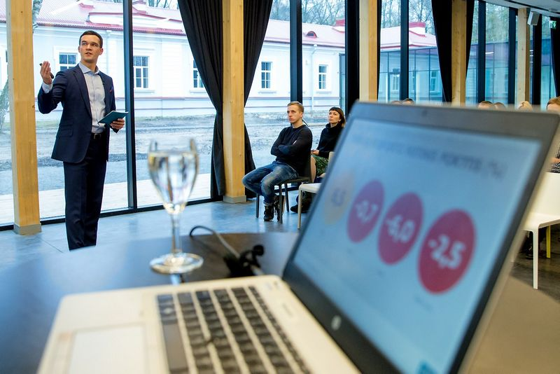 DNB banko smulkių verslo klientų departamento vadovas Andrius Ivašauskas. Vladimiro Ivanovo (VŽ) nuotr.