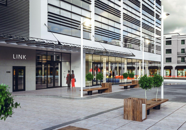 Naujas biurų pastatas Vilniuje: daug vietų automobiliams ir didelis aukštų plotas