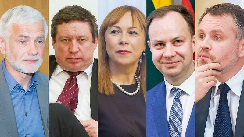 Kandidatai į ministrus. VŽ montažas