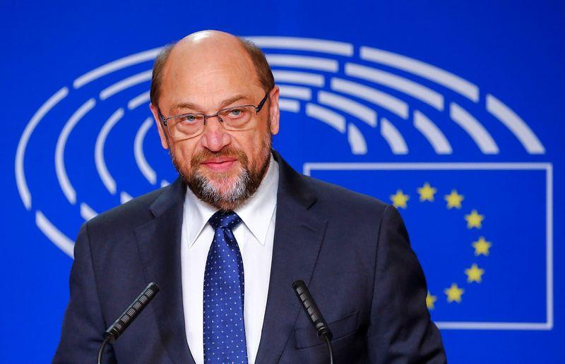 """Europos parlamento pirmininkas Martinas Schulzas. Yveso Hermano (""""Reuters"""" / """"Scanpix"""") nuotr."""