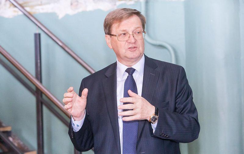 """Stasys Dailydka, AB """"Lietuvos geležinkeliai"""" generalinis direktorius Juditos Grigelytės (VŽ) nuotr."""