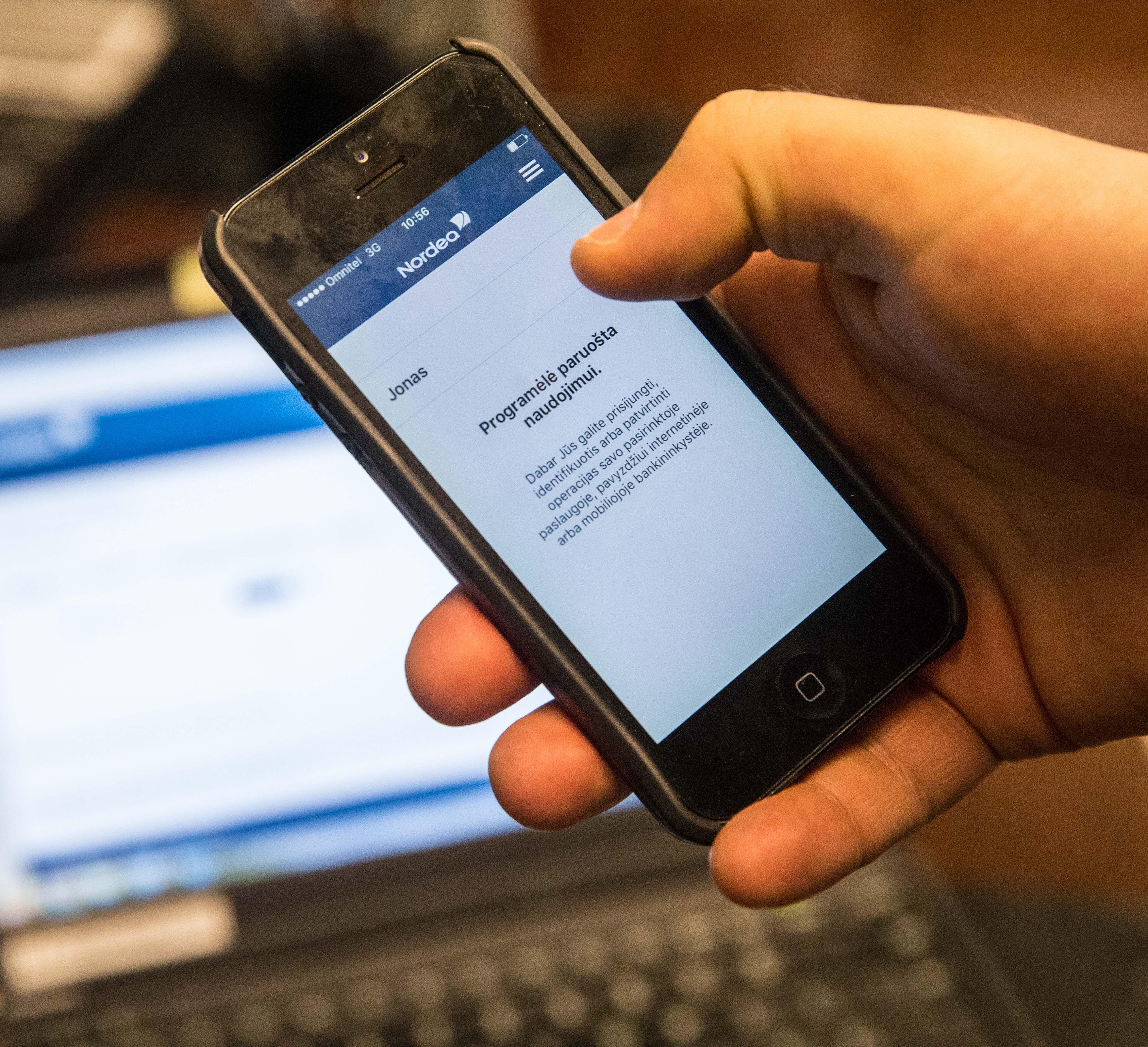 Bankai tapatybę galės nustatytiper vaizdo skambutį