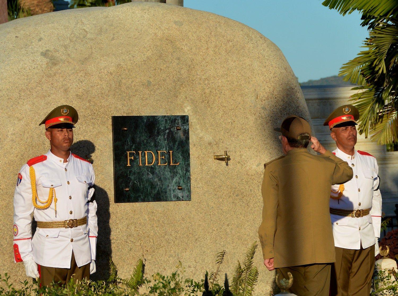 Kuboje palaidotas Fidelis Castro