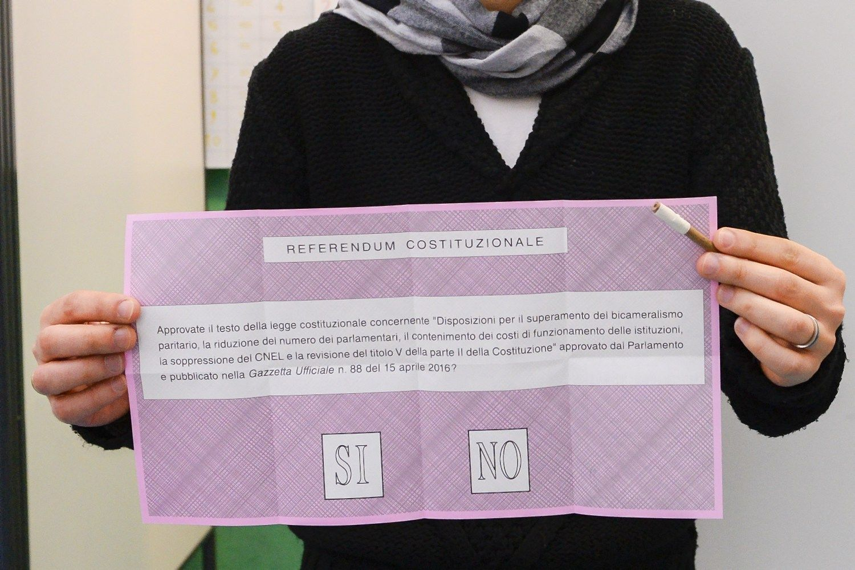 Dėl Italijos ateities balsavo 60% žmonių