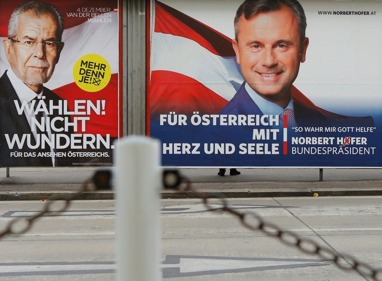 Austrai balsuoja rinkimuose, kurie perrašys Europos istoriją