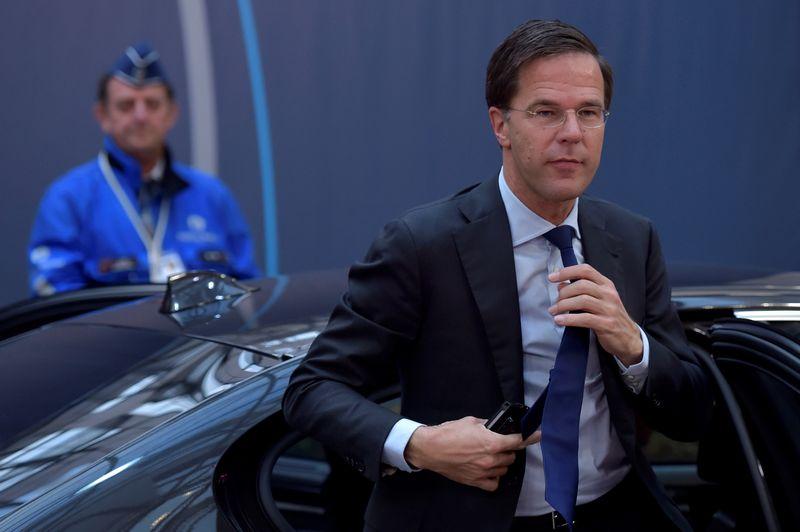 """Nyderlandų premjeras Markas Rutte. Erico Vidalo (""""Reuters"""" / """"Scanpix"""") nuotr."""