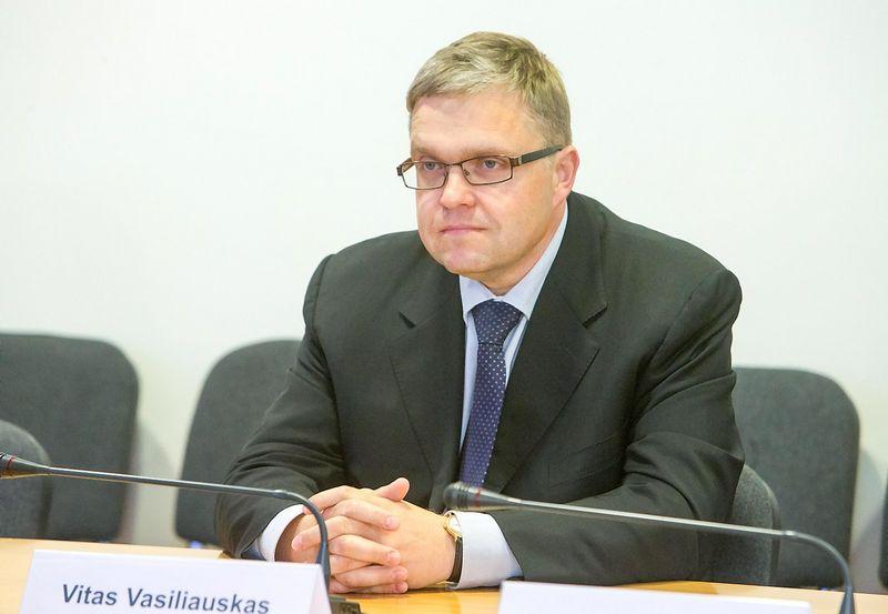 Vitas Vasiliauskas, Lietuvos centrinio banko valdybos pirmininkas. Juditos Grigelytės (VŽ) nuotr.