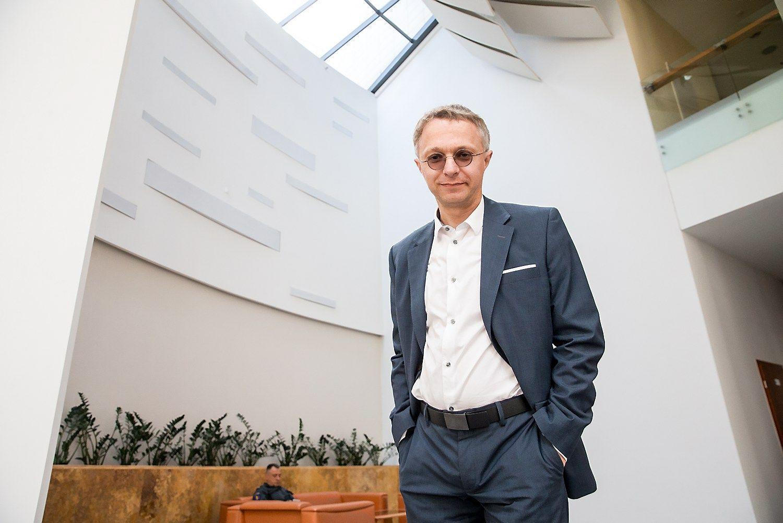 """Andrius Kasparavičius, ryšių su visuomene agentūros """"Komunikacija ir konsultantai"""" vykdantysis direktorius. Juditos Grigelytės (VŽ) nuotr."""