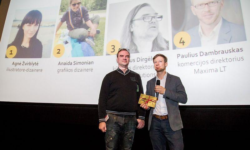 Nugalėtojas Dainius Dirgėla ir Artūras Olšauskas. Juditos Grigelytės (VŽ) nuotr.