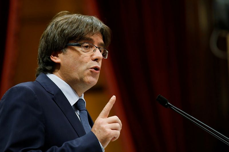 """Carlesas Puigdemontas, Katalonijos prezidentas. Alberto Gea (""""Reuters"""" / """"Scanpix"""") nuotr."""