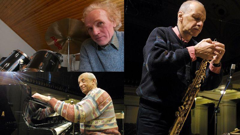 Džiazo muzikantai Viačeslavas Ganelinas, Vladimiras Tarasovas, Vladimiras Čekasinas. VŽ nuotr.