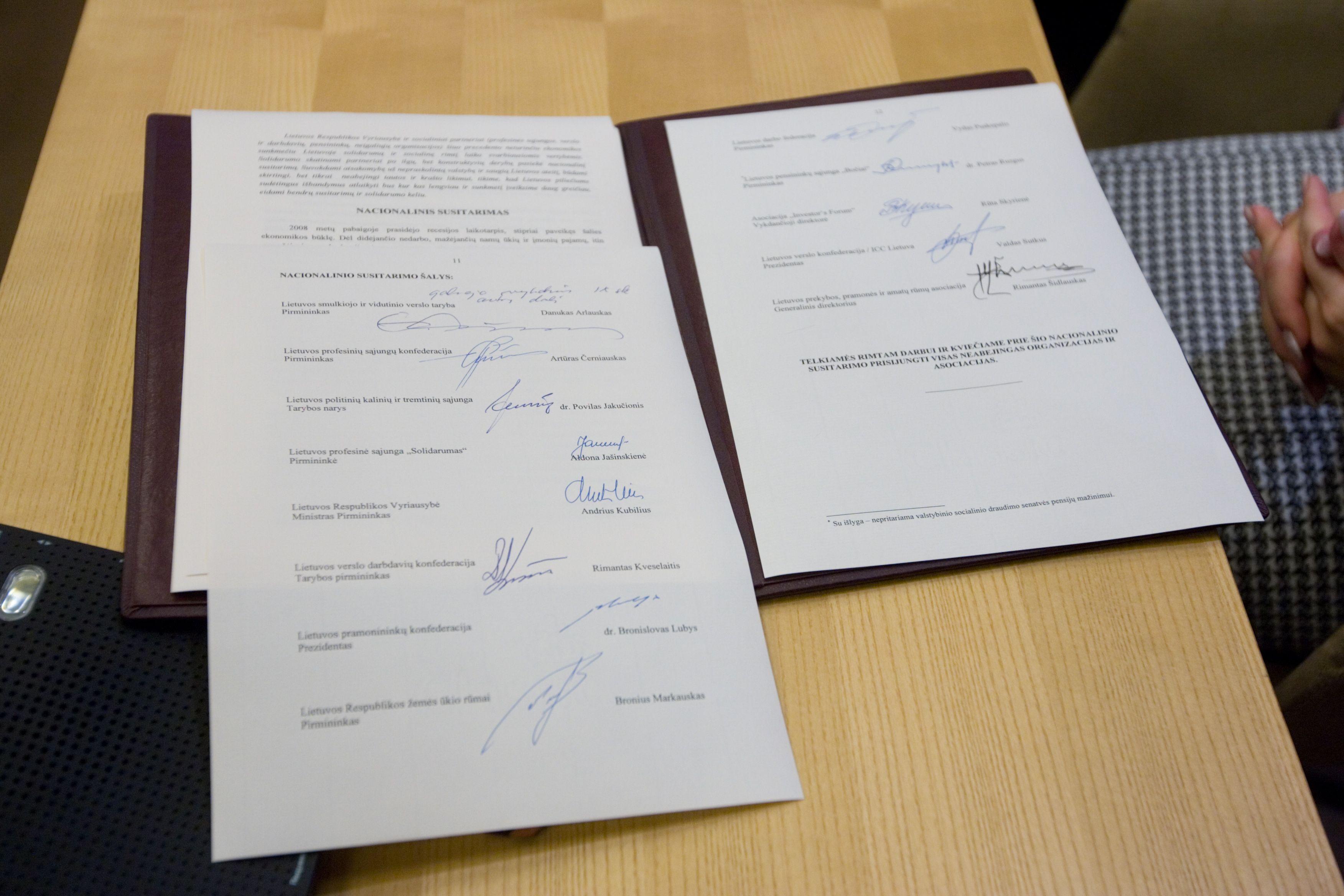 Iki vasario subręs naujas Nacionalinis susitarimas