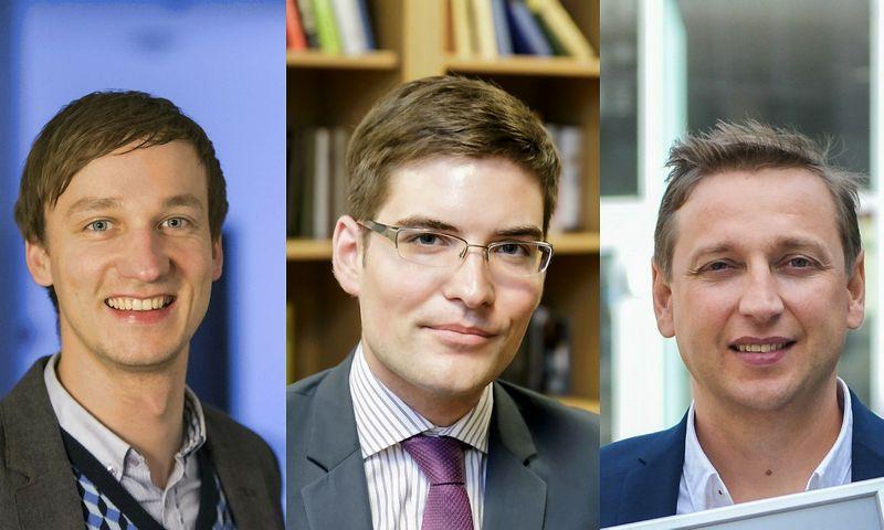 Iš kairės – Vytautas Zabulis, Vytautas Šenavičius, Evaldas Remeikis. VŽ montažas.