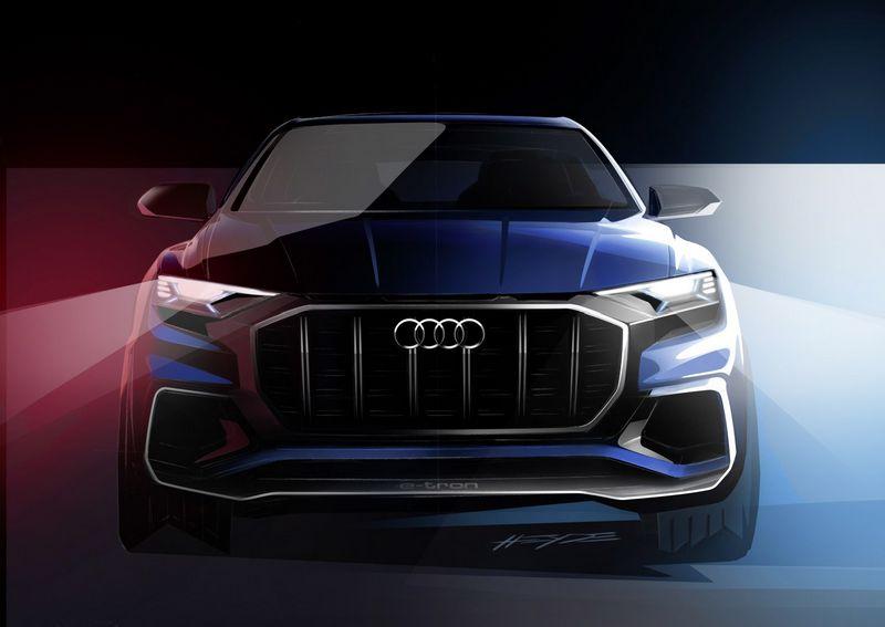 """Audi Q8"" koncepcinio modelio eskizas. Gamintojo nuotr."